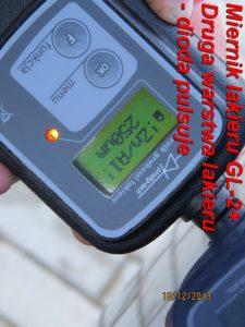 Pomiar grubości lakieru GL-2 plus 1 pomiar 1