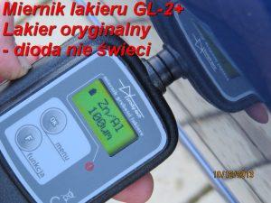 Pomiar grubości lakieru GL-2 plus 2 pomiar 1